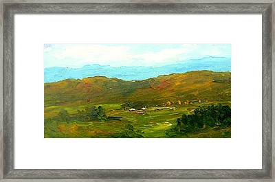 Framed Print featuring the painting Study Ranch Land by Fred Wilson
