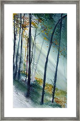 Framed Print featuring the painting Study The Trees by Allison Ashton