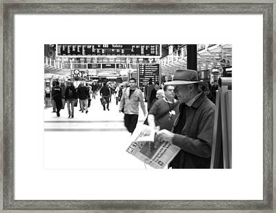 Studying The Days Gone Framed Print by Jez C Self