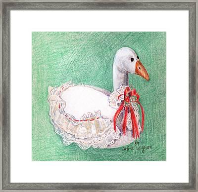 Stuffed Goose Framed Print by Arline Wagner