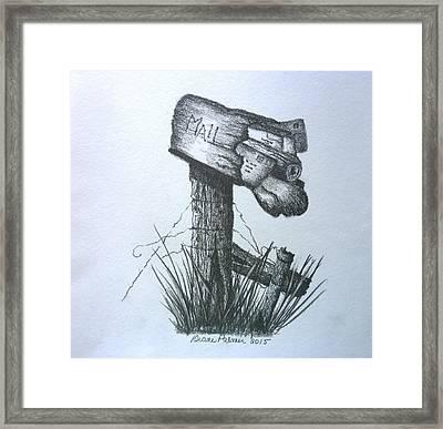 Stuffed Rural Mailbox Framed Print