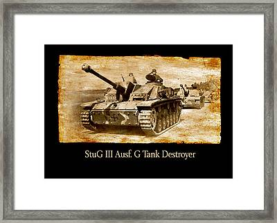 Framed Print featuring the digital art Stug IIi Ausf G Tank Destroyer by John Wills