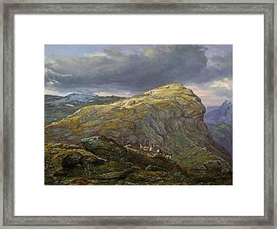 Stugunoset At Filefjell Framed Print