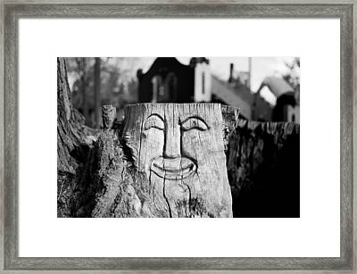 Stump Face 1 Framed Print