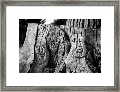 Stump Faces 2 Framed Print
