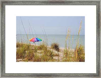 Stump Pass Beach State Park Framed Print by Steven Scott