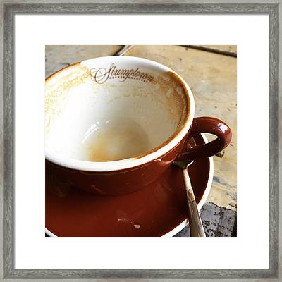 Stumptown Cup Framed Print by Nancy Ingersoll
