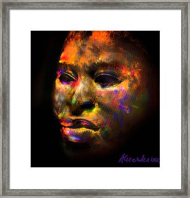 Stunning African Mask  Framed Print by Alexandra Jordankova
