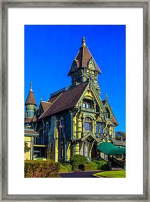 Stunning Carson Mansion Framed Print by Garry Gay