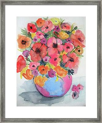 Stunning Flower Arrangement Framed Print by Harold Kimmel