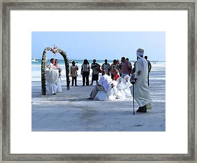 Stunning Kenya Beach Wedding Framed Print