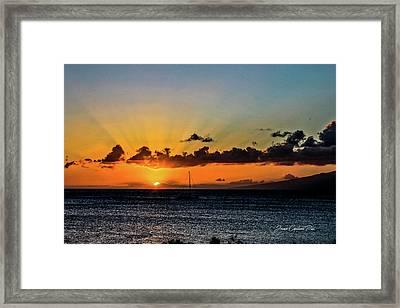 Stunning Sunset Framed Print