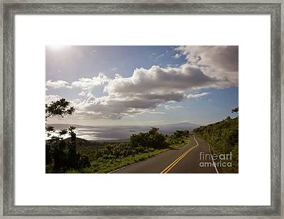 Stunning Sunset On Kula Road Maui Hawaii Framed Print by Denis Dore
