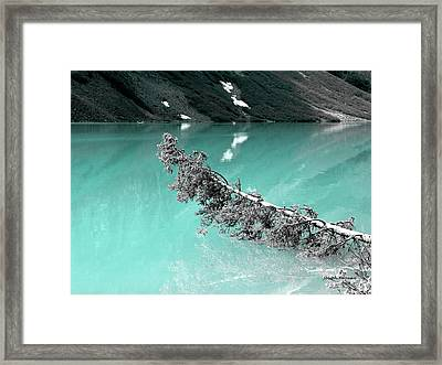Stunning Turquoise Glacial Lake Framed Print
