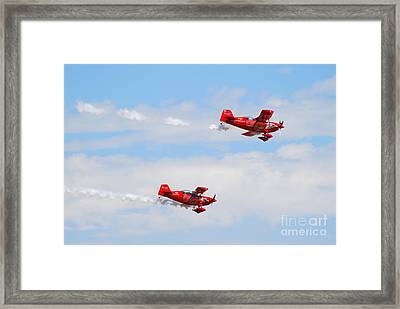 Stunt Pilots Framed Print by Larry Keahey