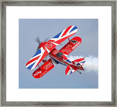 Framed Print featuring the photograph Stunt Plane by Roy  McPeak