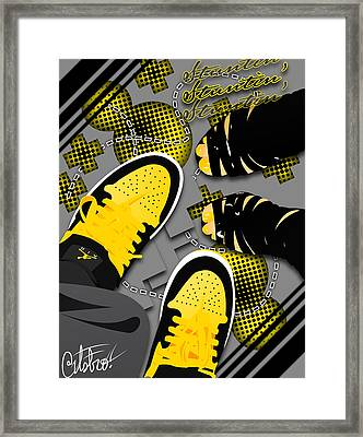 Stuntin Bumble Bees Framed Print by Devin Green