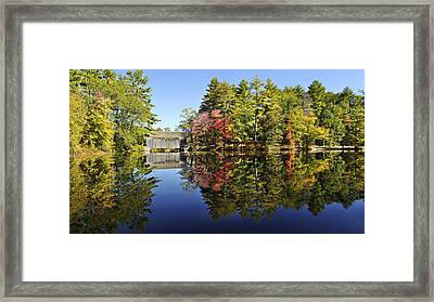 Sturbridge Massachusetts Fall Foliage Framed Print by Luke Moore