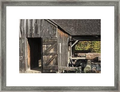 Sturbridge Village Sawmill Framed Print by Bob Phillips