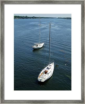 Framed Print featuring the photograph Sturgeon Bay Canal by David T Wilkinson