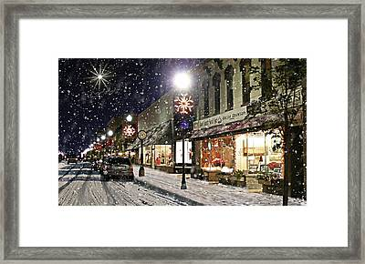 Sturgeon Bay On A Magical Night Framed Print