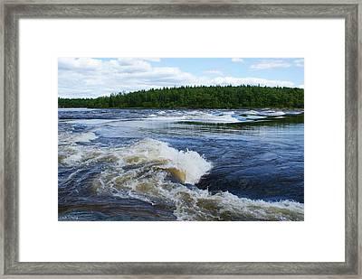 Sturgeon Falls Manitoba Framed Print