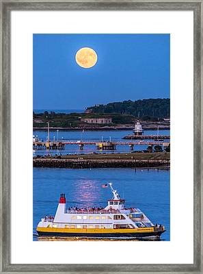 Sturgeon Moon Over White Head Framed Print by Tim Sullivan