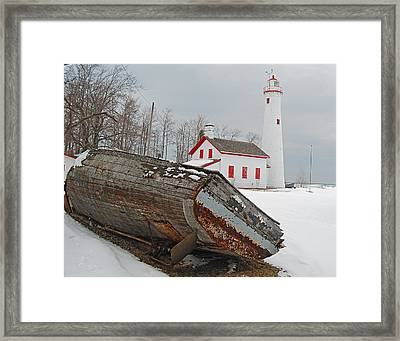 Sturgeon Point Lighthouse Framed Print by Michael Peychich