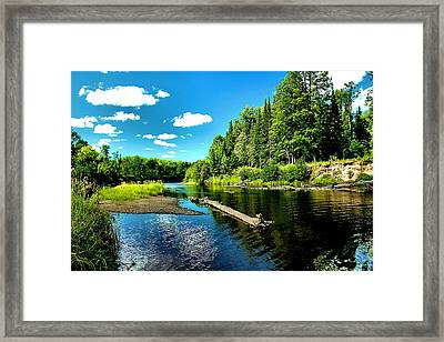 Sturgeon River In Summer Framed Print by Matthew Winn