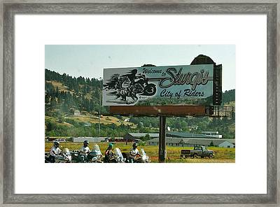 Sturgis City Of Riders Framed Print
