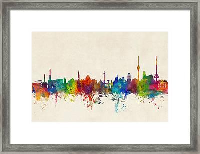 Stuttgart Germany Skyline Framed Print by Michael Tompsett