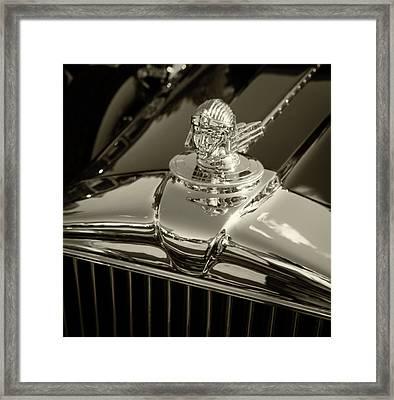 Stutz Hood Ornament Framed Print