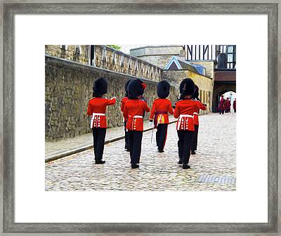 Step Aside For The Tower Guard Framed Print