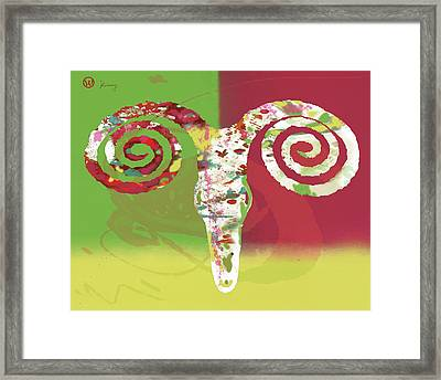 Stylised Animal Art Poster Framed Print by Kim Wang
