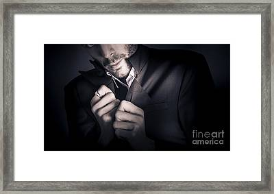 Stylish Man Wearing Mens Fashion Accessories  Framed Print