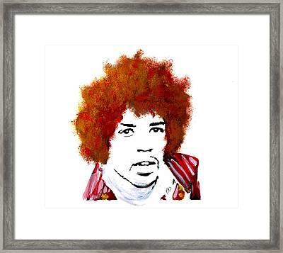 Stylized Hendrix Framed Print