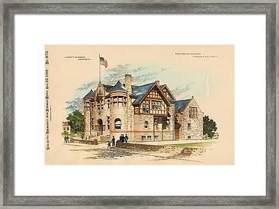 Sub Police Station. Chestnut Hill Pa. 1892 Framed Print by John Windrim