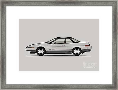 Subaru Alcyone Xt-turbo Vortex Silver Framed Print by Monkey Crisis On Mars