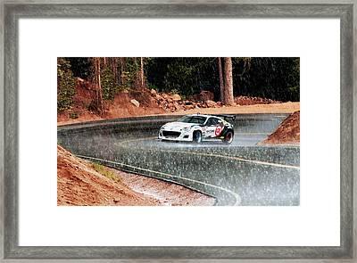 Subaru Brz Ascending Pike's Peak Framed Print by Erin Hissong