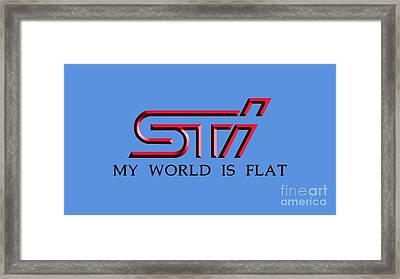 Subaru Sti 3d Framed Print