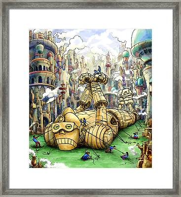 Subdue The Beast Framed Print