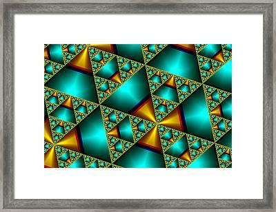 Framed Print featuring the digital art Sublime Sierpinski Fractal by Manny Lorenzo