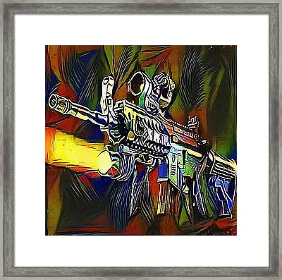 submachine gun - My WWW vikinek-art.com Framed Print