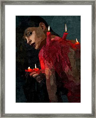 Submission In Red - Succubus Framed Print by BDSM love