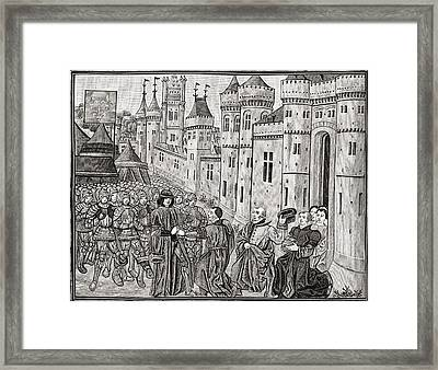 Submission Of Bordeaux To The French Framed Print by Vintage Design Pics