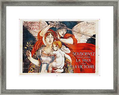 Subscribe To Hasten Peace By Victory Framed Print by Paul Albert Besnard