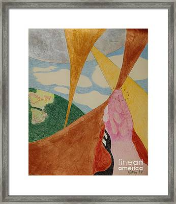 Framed Print featuring the drawing Subteranian  by Rod Ismay