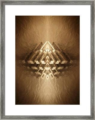 Subtle Geometrix Framed Print