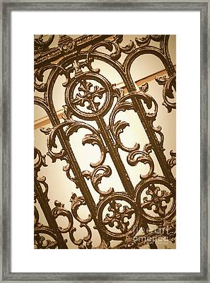 Subtle Southern Charm In Sepia Framed Print by Carol Groenen