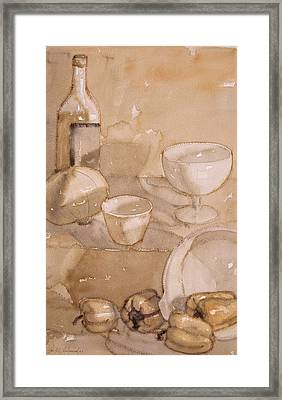 Subtle Still Life Framed Print